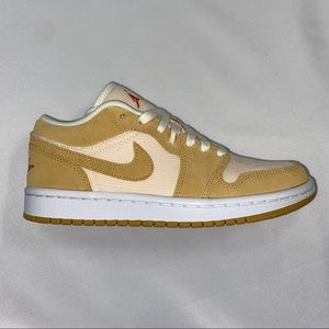 """Nike Air Jordan 1 Low Women's """"Twine"""" Tan New 7"""